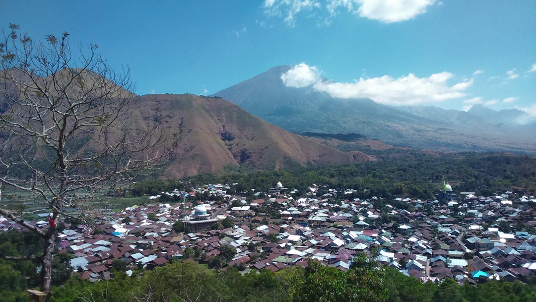 View dari Bukit Selong Sembalun Lombok